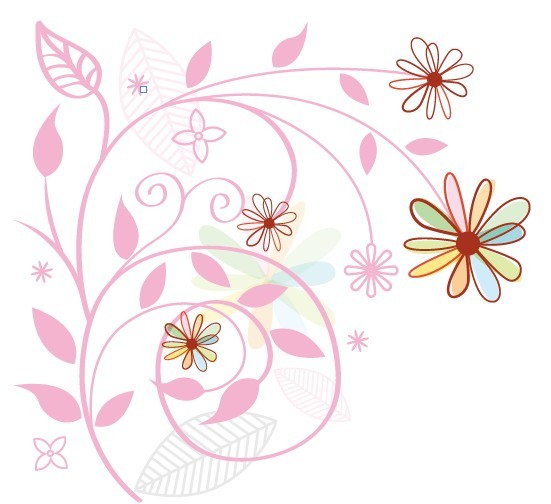 Floral Art Line Design : Free fresh clean line art floral design vector titanui