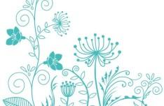 Fresh Clean Line Art Floral Design Vector 05