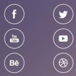 iOS 7 Line Style Social Media Icons