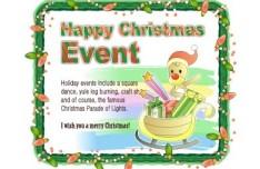 Cartoon Happy Christmas Greeting Card Design Vector 03