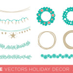 Set Of Vector Holiday Decorations