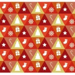 Triangular Merry Christmas and Happy New Year Icons Vector