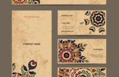Set of Vintage Corporate Banners Vector