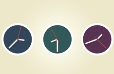 Flat Circle Clock Icon PSD