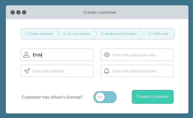 Free Flat Form Navigation UI PSD - TitanUI