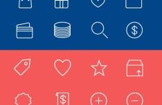 24 E-commerce Line Icons