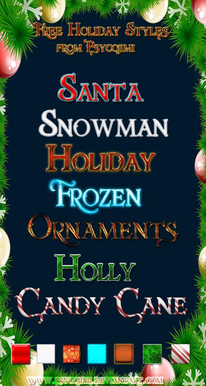 free happy holiday text styles psd