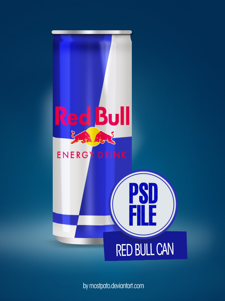 Free Red Bull Can Mockup Psd Titanui