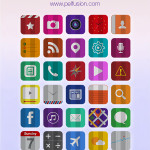 30 Folded Flat iOS 7 Icons