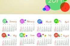 Creative 2014 Calendar Vector 01