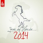 Happy New Year 2014 Horse Design Vector 05