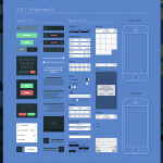 iOS 7 Wireframe Kit PSD