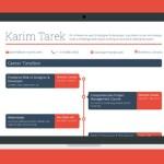 Career Timeline Web Template PSD