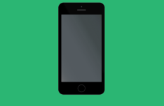 Minimal Space Grey iPhone 5S Mockup PSD