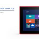 Nokia Lumia 2520 Mockups PSD