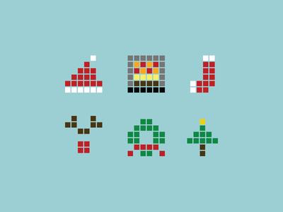 Free Pixel Christmas Icons Vector - TitanUI