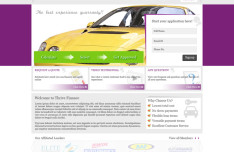 Automotive Finance Company Website Template PSD