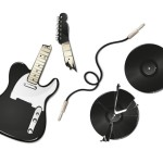 Vector Illustration Of Guitar and Vinyl Records