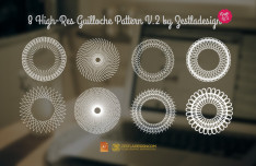 8 High-Res Guilloche Pattern