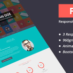 Flato Responsive Online CV & Resume Templates PSD