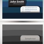Creative Corporate Business Card Design Vector 01