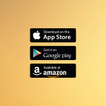 App Store Google Play Amazon Badges Vector