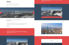 Swiss - Flat Red Tumblr Theme PSD