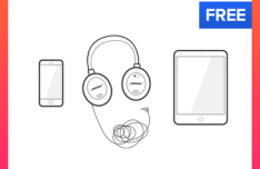 Apple Devices Vector Illustration