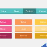 Flat UI Buttons PSD