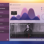Music Dashboard Template PSD