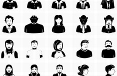 Set Of Vector People Icons PSD