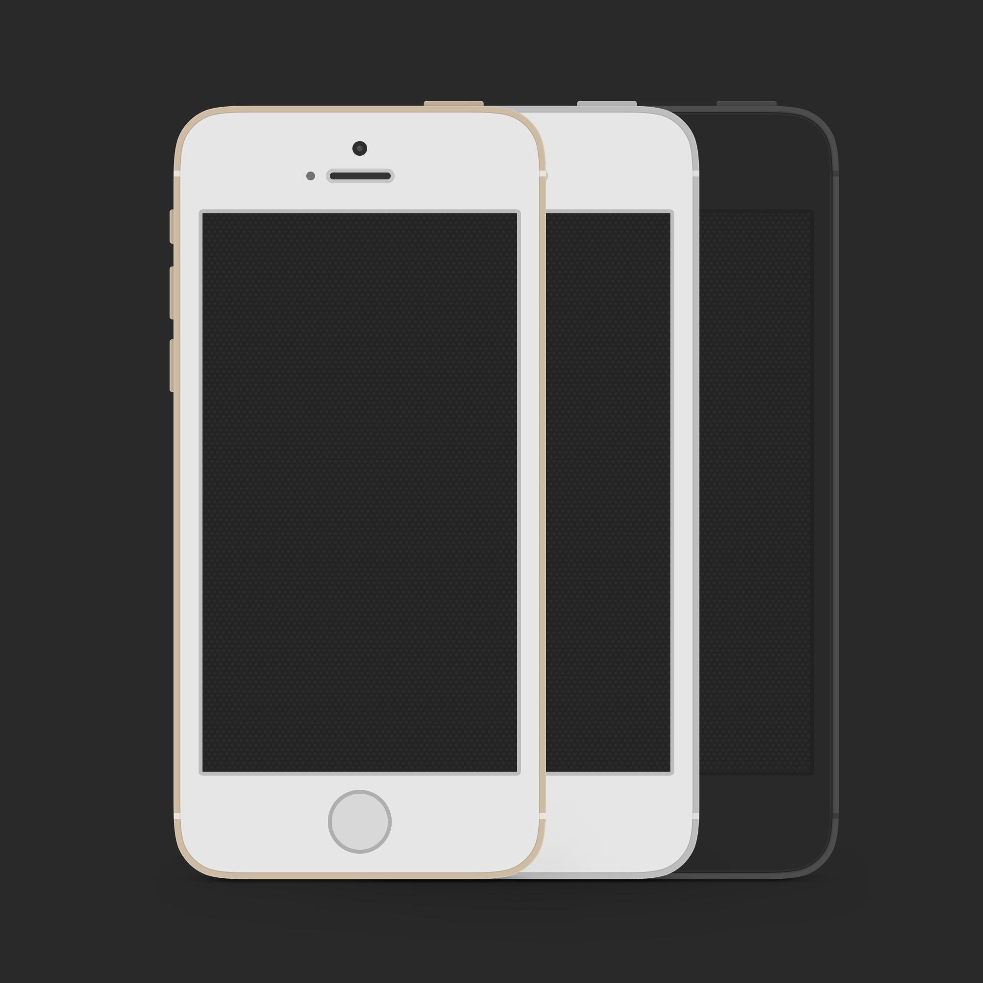 Free Flat iPhone 5S Mockups PSD - TitanUI