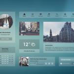 Light Blue Transparent UI Kit PSD