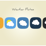 Cute Rounded Weather Icons PSD
