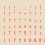 Set Of Wineglass Icons PSD