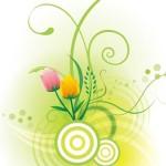 Vector Illustration Of Spring Flowers 05