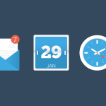 3 Flat Random App Icons Vector