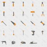 Usefull Tools Flat Icon Set