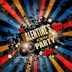 Grunge Valentine's Party  Flyer Template
