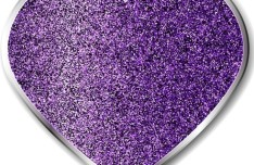 Purple Sand Heart with Silver Border Vector