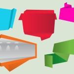 Creative Flat Corner Ribbons Vector