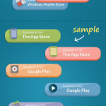 Set of App Store Download Buttons PSD