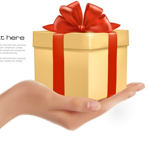 Free Gift Box In Hand Vector - TitanUI