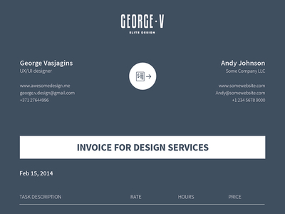 graphic design invoice template free download – neverage, Invoice examples