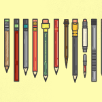Colored Pencils Vector Illustration