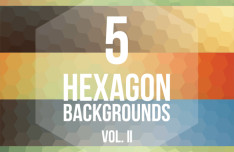5 Colorful Hexagon Backgrounds