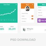 Flat UI Widgets PSD