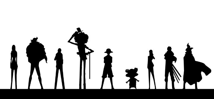 how to draw character silhoueete