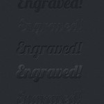Engraved Text Effects and Styles