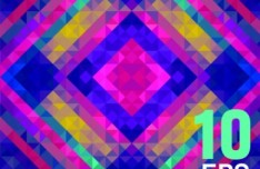 Colorful Abstract Triangles Background Vector 02